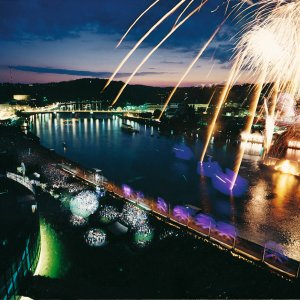 Donau in Flammen Linz